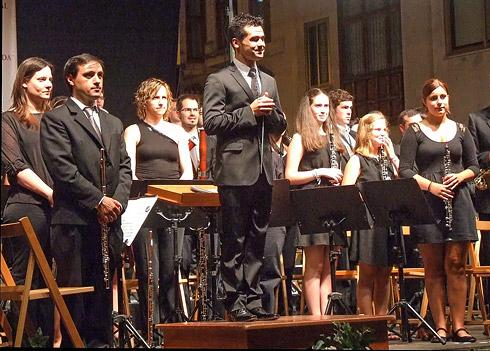 Actuación de la Banda de Silleda en Aranda de Duero