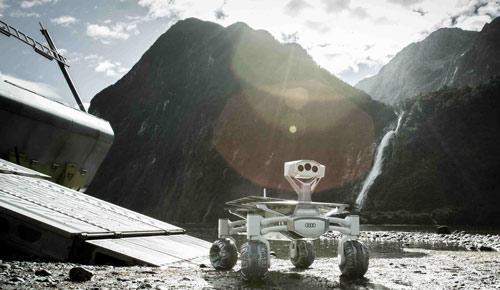 El 'Audi Lunar Quattro' en plena actuación cinematográfica