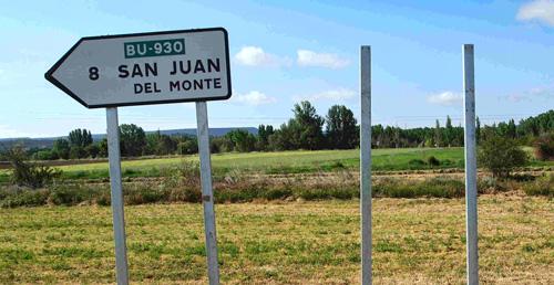 Por la izquierda a San Juan del Monte, por la derecha ¿a dónde?