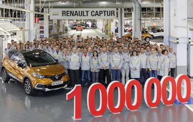 La factoría de Valladolid ha fabricado su Captur número un millón