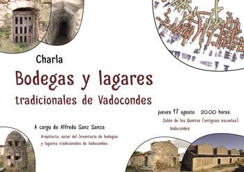 Cartel informativo de la charla en Vadocondes