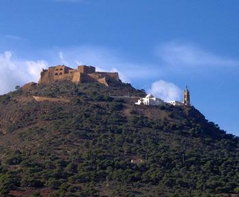 Antiguo fuerte de Santa Cruz en Orán y Basílica-Santuario de la Virgen en la ladera del monte