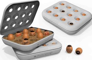 También es posible advertir la presencia de huevos caducados antes de sacarlos de su embalaje