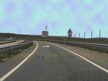 Hacia Zaragoza se permite ir a 70 Km/h