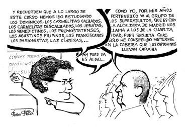 Doña María José Zaparaín Yáñez, profesora de la UBU, ha dirigido este curso. Y yo, como casi siempre, en las nubes
