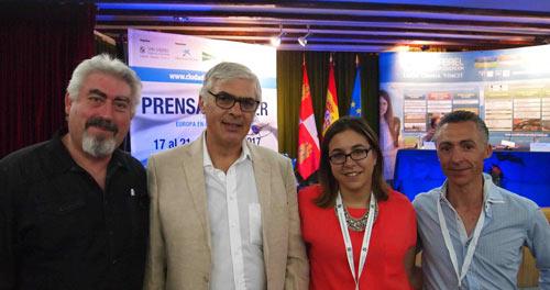 José Ignacio Delgado, Wilhelm Hofmeister, Celia Izquierdo y Miguel Ángel Gayubo
