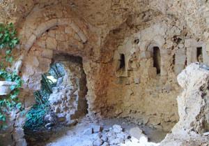 Restos de la primitiva capilla semirrupestre