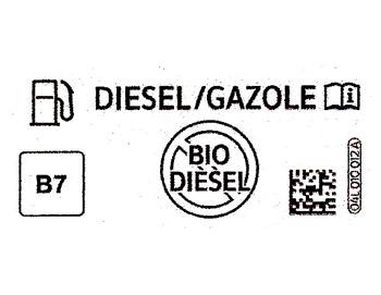 Prototipo de etiqueta para vehículos provistos de motor diésel