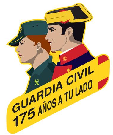 Logotipo del 175º aniversario de la fundación de la Guardia Civil 1844 / 2019