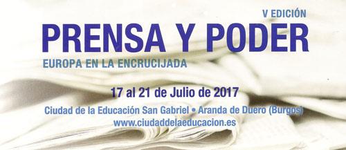 """V Edición de Prensa y Poder """"Europa en la Encrucijada"""""""