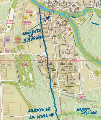 Situación del Convento Sancti Spiritus (click para ampliar)