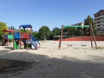 Parque de La Huerta construido y reformado a instancias de la Asociación