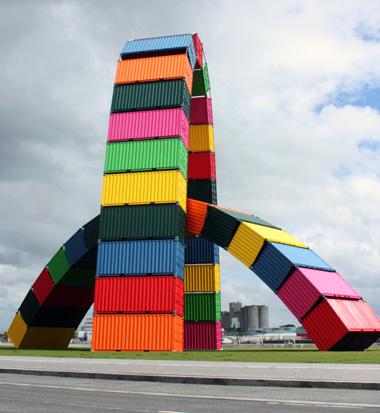 Havre. Catene de containe