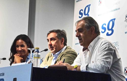 De izquierda a derecha de la imagen: Begoña Villacís, José Ramón García Hernández (JoseRa) y Graciano Palomo