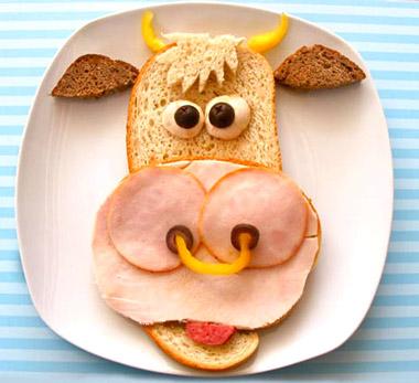 Importante sorprenderles con sandwiches divertidos