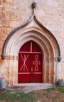 Portada de la ermita de Monzón (Gumiel de Mercado)