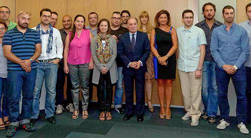 Fotografía: JCyL | Merche Abad y Javier Marqués junto al Consejero de Economía (Centro de la imagen)