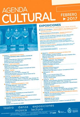Agenda Cultural de febrero en Aranda de Duero