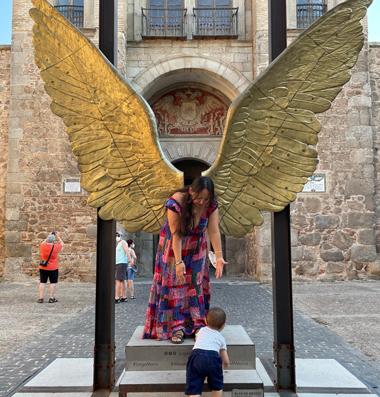 Alas de México en la Plaza de Santa María (Burgos)