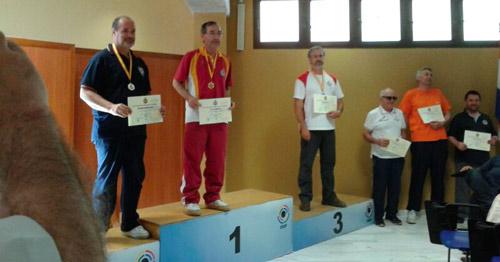 Eugenio Martín Fisac y Pedro Laso en el podium