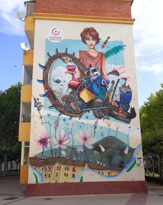 Alegoría del barrio por Fernando Arribas (Nano)