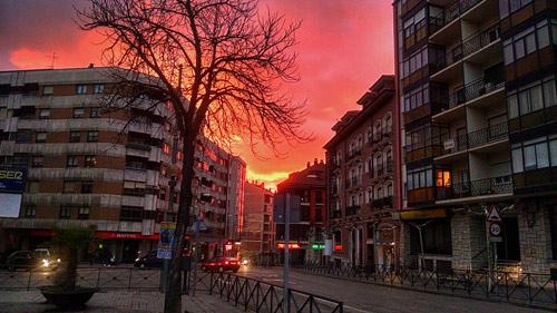Fotografías: Merche Abad  | Atardecer Aranda de Duero