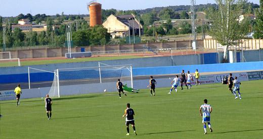Fotografía: Javier Marqués. Gol de Zamora en el minuto 24 de juego.