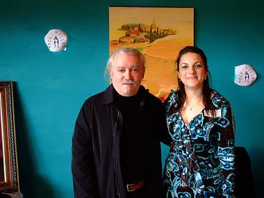 Cristino Díez (I) y Belén Quintana (D)