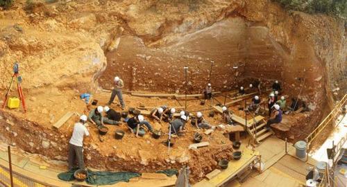 Excavación en 2012 de la Gran Dolina (Sierra de Atapuerca)