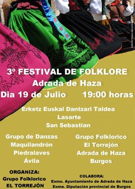 Cartel del festival de folclore