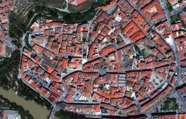 Plano del centro de Aranda de Duero