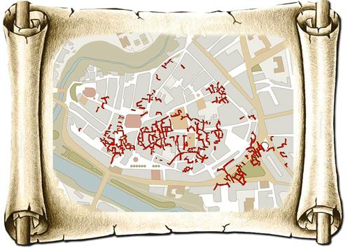 Infografía: Merche Abad | Plano Bodegas subterráneas Aranda de Duero