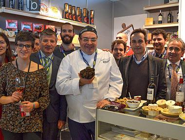 Empresarios agroalimentarios de Burgos Alimenta, Luis Salinero y Andrea Tumbarello