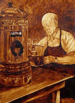 Máquina tradicional de café