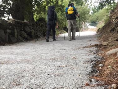 Reciente pavimentación con cemento
