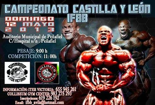 Cartel del Campeonato de Castilla y León IFBB