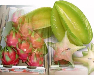 Carambola y Maracuyá o Fruta de la pasión