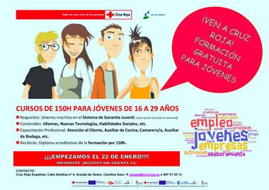 Cruz Roja formará a jóvenes entre 16 y 29 años