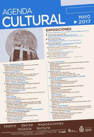 Agenda Cultural en Aranda de Duero (mayo 2017)