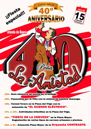 Cartel oficial del 40 Aniversario de la Peña La Amistad