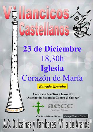 Concierto de Villancicos Castellanos Benéfico a favor de la AECC
