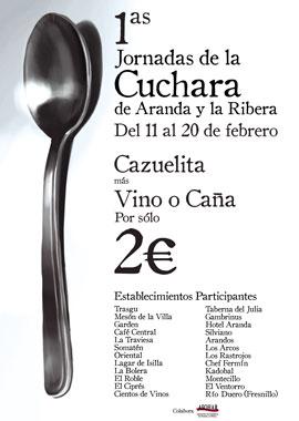 cartel cuchara I Jornadas de la Cuchara en Aranda de Duero