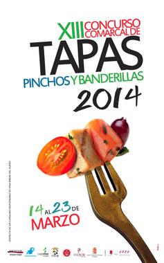 Cartel Anunciador del Concurso de Tapas 2014