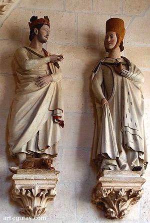Fernando III y su esposa Beatriz de Suabia