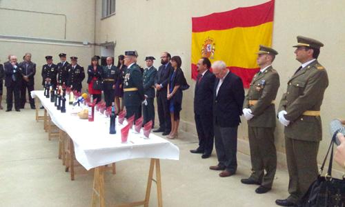 Celebración del Pilar en la Casa Cuartel de Aranda de Duero
