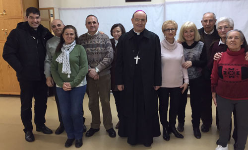 Junta directiva con el Arzobispo de Burgos