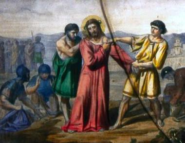 Los soldados se juegan la Túnica a cara o cruz