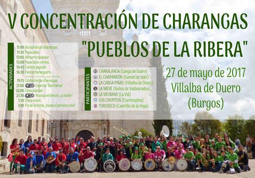 Cartel anunciador de la concentración de Charangas el próximo sábado en Villalba