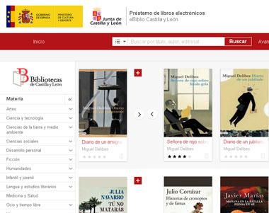 Servicio virtual eBiblio Castilla y León