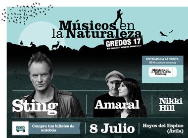 Sting y Amaral se reencuentran con Gredos